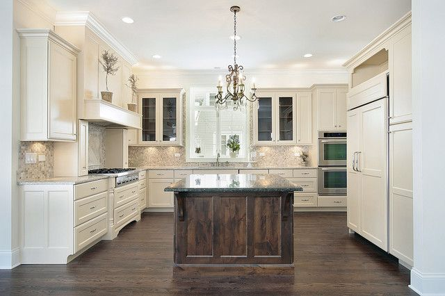 Kitchen; I love the more rustic look on the island area