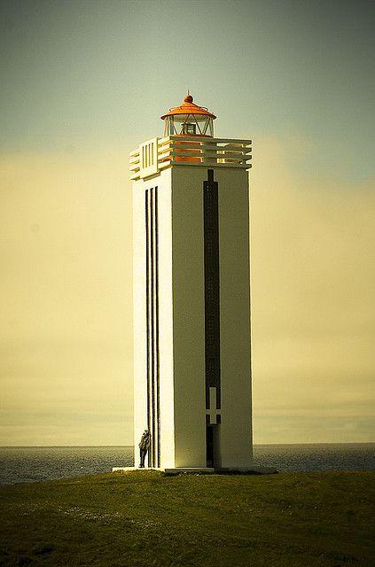 Lighthouse in Kálfshamarsvík by Villi.Ingi, via Flickr (Iceland)