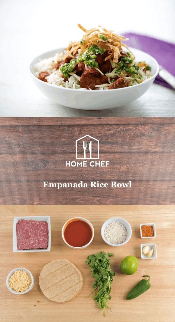 You are a rice bowl connoisseur. You know your jasmine from your basmati, your various toppings, and you think you've seen them all. Well, no, you haven't. We don't mean to burst your rice bowl bubble by saying so, but this empanada rice bowl is brand spanking new. Let this filter through your expert mind: Beef, browned in seasonings and tomato sauce, crunchy tortilla strips, and a fiery good jalapeño chimichurri topping the fluffiest jasmine this side of the Pacific. Connoisseur…