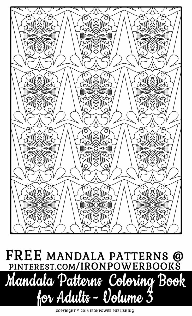 FREE Difficult Pattern Coloring Pages For Adults