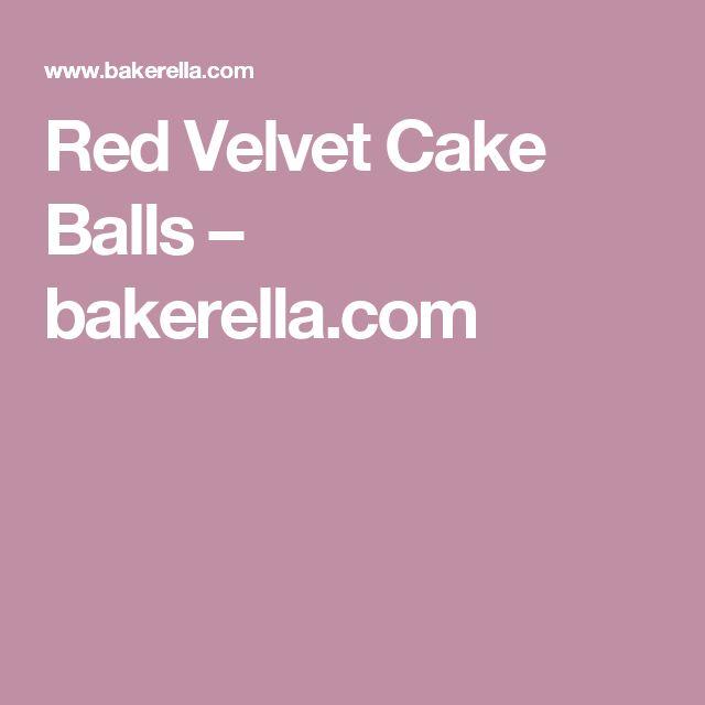 Red Velvet Cake Balls – bakerella.com