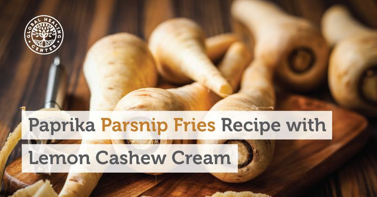 Looking for a low-calorie, full-flavor snack? Check out this tasty recipe for parsnip fries accompanied by savory lemon cashew cream dip.