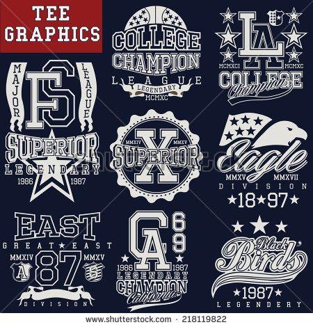 t-shirt graphics - stock vector