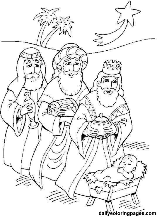 3 kings picture to color | Three Kings Day Coloring Pages - Los Tres Reyes Magos : Let's ...