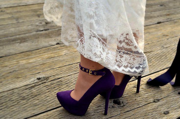Wedding dress and shoes Melina Black Photography