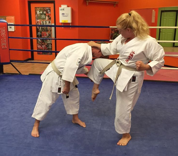 The self-defence technique I have chosen today is an in-line wrist grab, this is a very common action to be grabbed and pulled forwards, step 6.