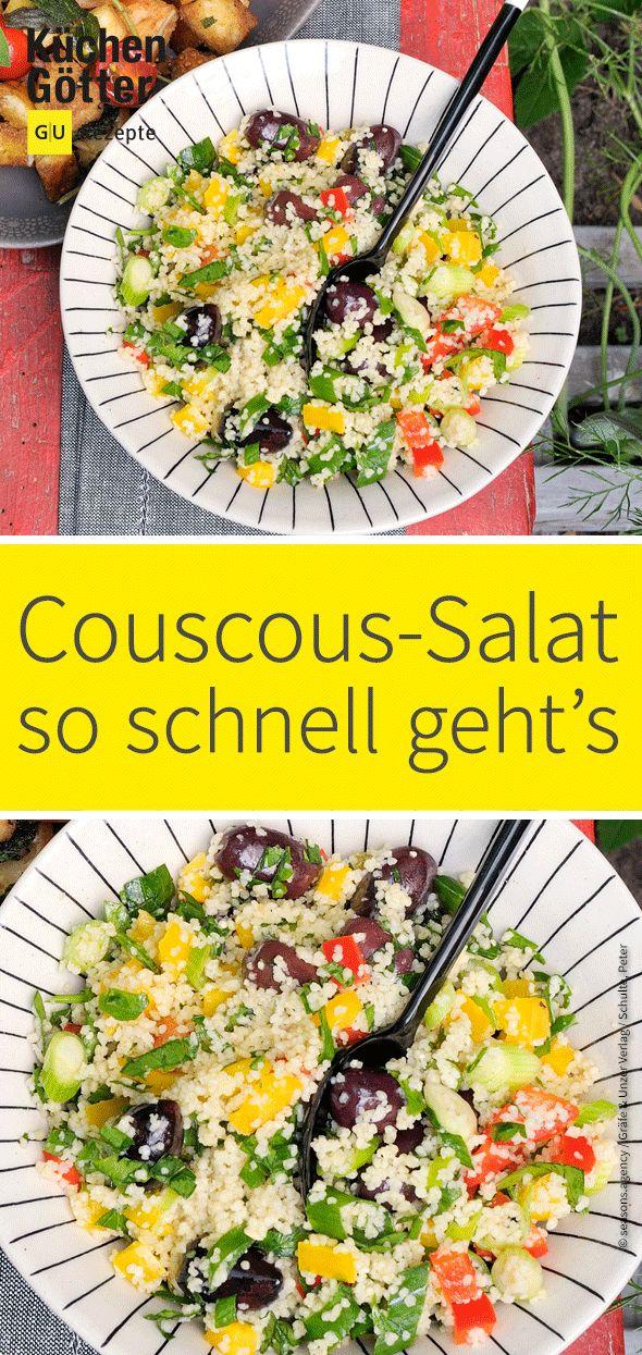 Vegetarischer Couscoussalat   – Salat-Rezeptideen