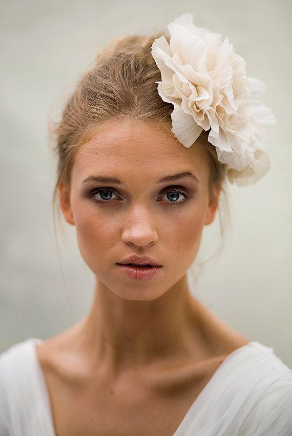 Silk Crimped Flower  Bridal on Etsy, MUA Emma Motion, Model Ruta Rimkunaite…