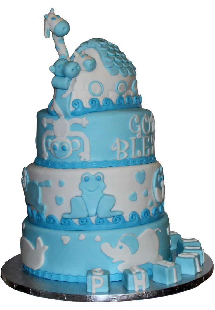 Noah's Ark Christening Cake Like us at www.facebook.com/melianndesigns