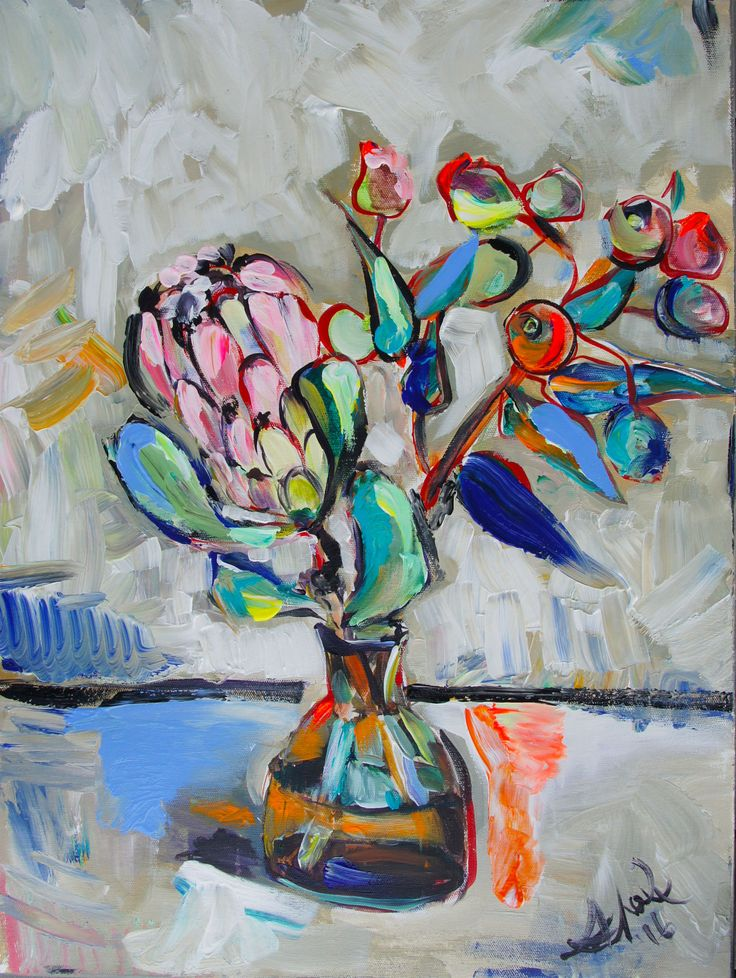 Katerina Apale Pink Protea instagram.com/apale.art facebook.com/katerina.apale.art art.apale@gmail.com #pinkprotea #katerinaapale #apaleart #australianart #painting #stilllife