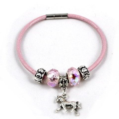 European Style Horse Charm Bracelet - Leather : Horse Gifts and Jewellery | The Horse Stall | Australia