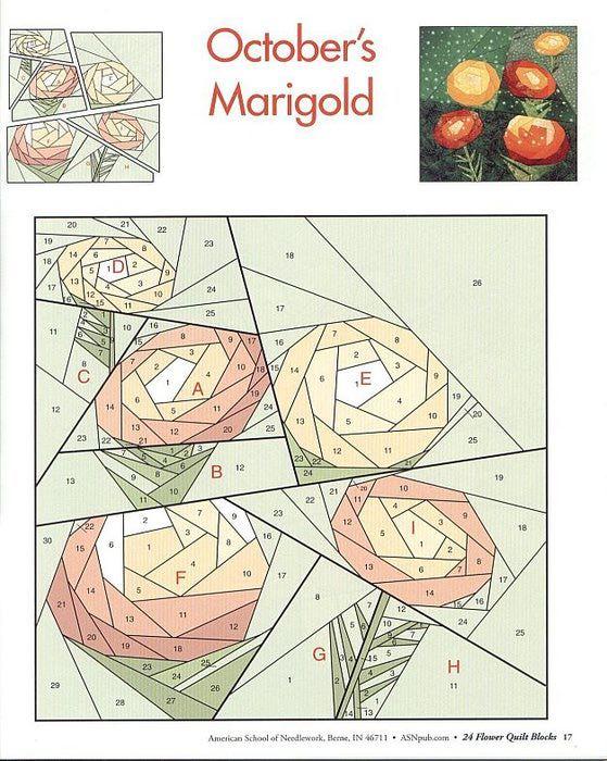 Marigold paper pieced