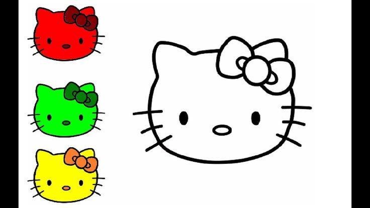 wie zeichnet man bunter hello kitty  zeichnen und malen