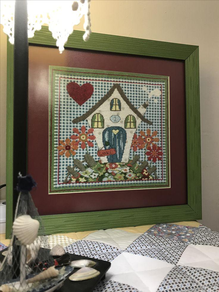 Crossstich etamin kanaviçe Home sweet home