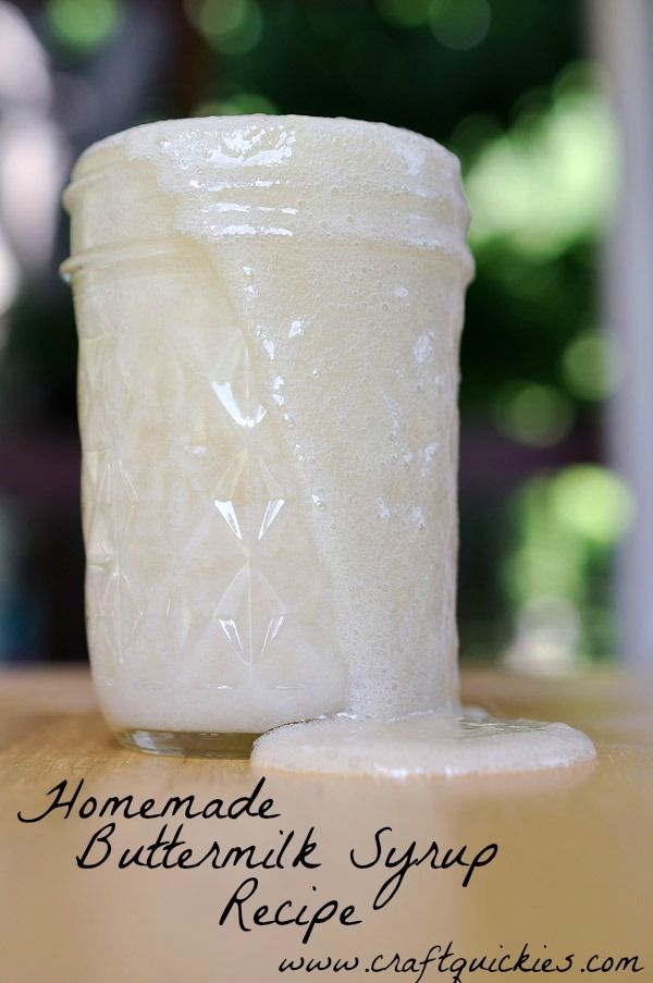 BUTTERMILK SYRUP ~ Try this over pancakes, waffles or any dessert that needs a little help.  Reminds me of cake gravy...