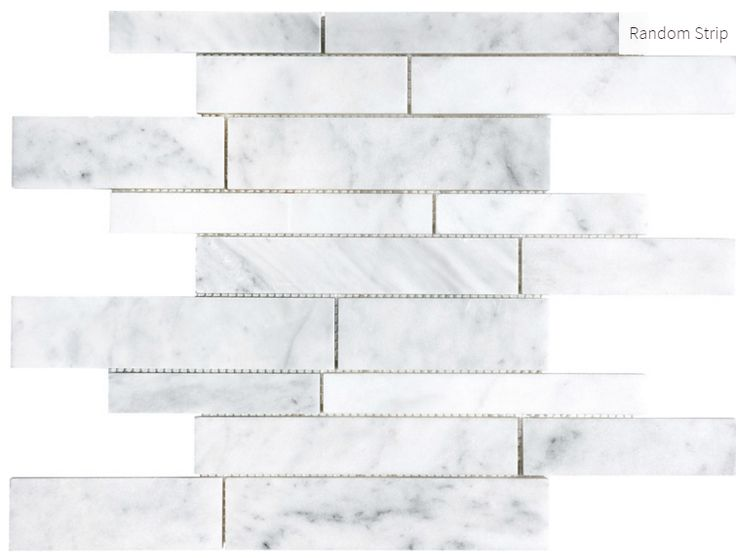 Carrara Extra Marble Random Strip #marble #faberstoneandtile