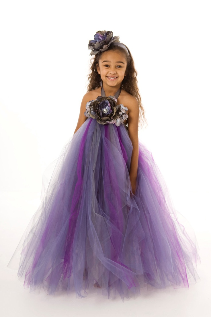 22 best keilahs wedding images on pinterest flower girl tutu flower girl tutu dress purple amethyst by cutiepatootiedesignz ombrellifo Gallery