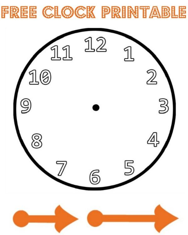 free clock printable, perfect for using as a new year countdown clock