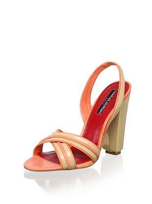 73% OFF Charles Jourdan Women's Holiday Slingback Sandal (Champagne/Rose)