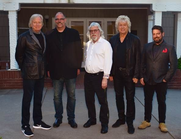 During the Days of Future Passed 2017 tour, $1 of every ticket sold is going to the Sweet Relief Musicians Fund. The band with Bill Bennett and Aric Steinberg of Sweet Relief at the recent concert at Chateau Ste Michelle Winery.