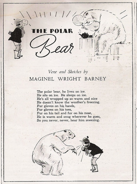 """The Polar Bear"" vintage child's poem by 912greens, via Flickr"