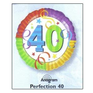 """Perfection 40 Mylar Balloon 18"""""""