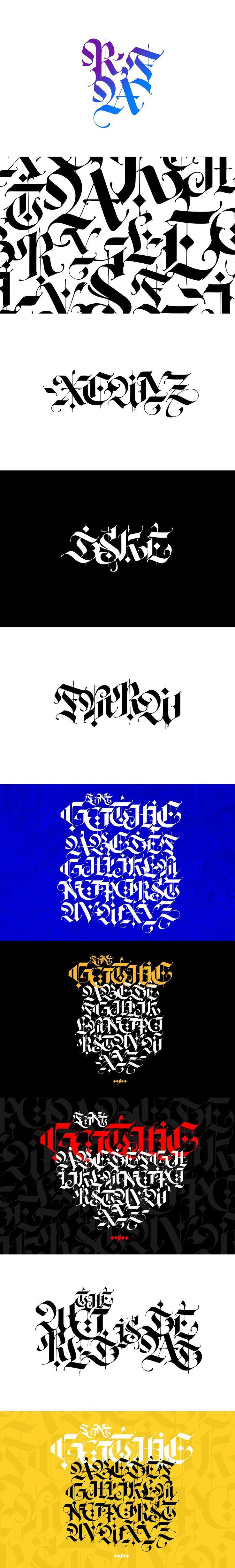 Gothic modern Web graphic design, Gothic fonts, Gothic