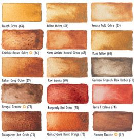 Orange Daniel Smith Watercolors | Raw Sienna and Burnt Sienna are ancient earth pigments with subtle ...