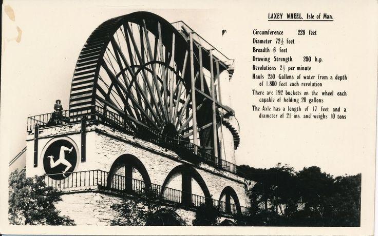 Isle of Man, Laxey Wheel postcard