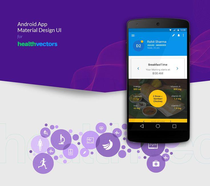 Mobile App UI Design for Healthvectors on Behance