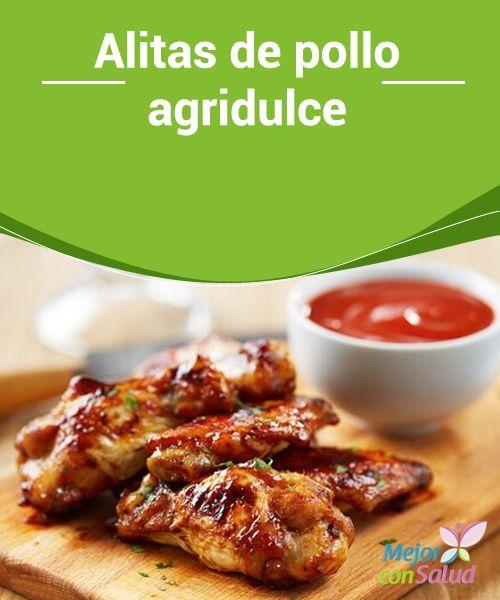 Alitas de pollo #agridulce   Las #alitas de #pollo agridulce están simplemente... ¡irresistibles!; #tostaditas con una salsa que engacha y un olor que invita a comerlas. #Recetas