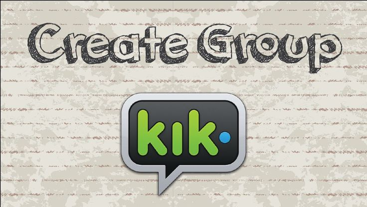 How to create group chat on KIK video youtube social