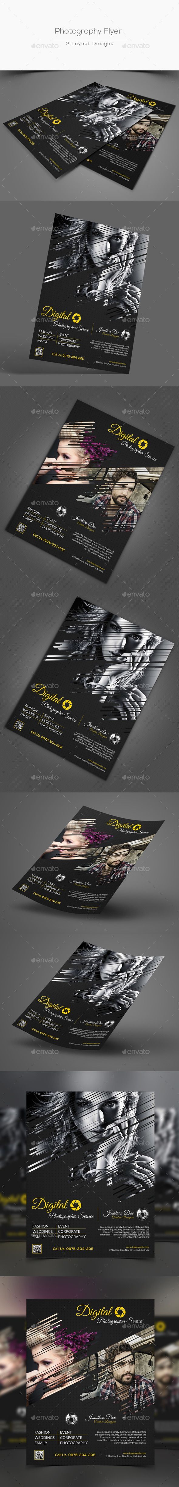 Photography Flyer Template PSD #design Download: http://graphicriver.net/item/photography-flyer/12945438?ref=ksioks