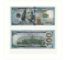 100 Dollar Bill – Money | Art Print
