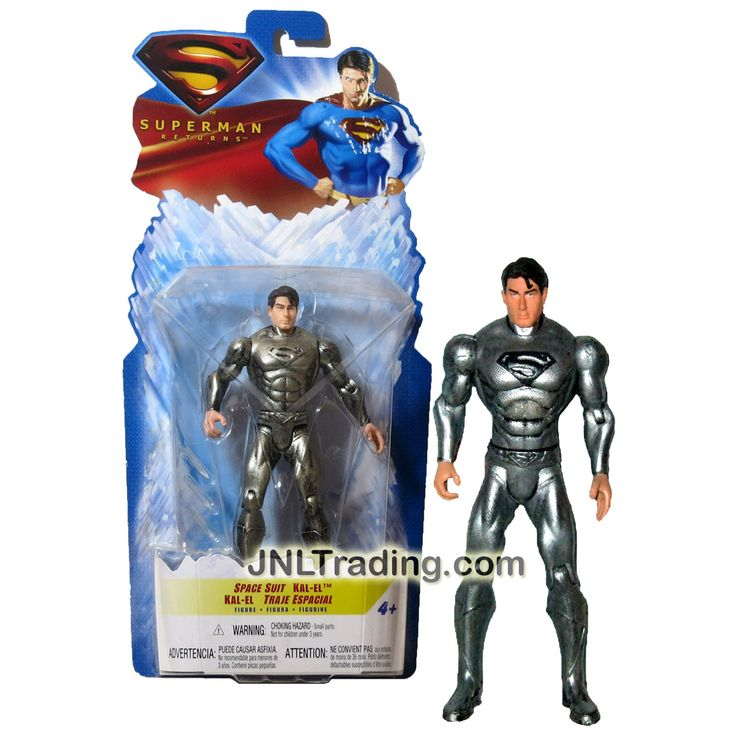 "Mattel Year 2006 DC Movie Series "" Superman Return"" 6 Inch Tall Action Figure - SPACE SUIT KAL-EL aka Superman"
