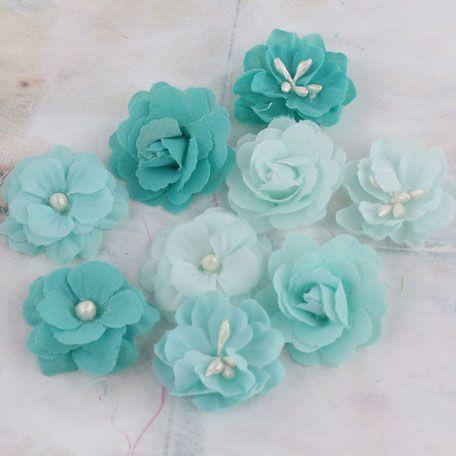 Prima - Lady Godivas Collection - Fabric Flower Embellishments - Raspberry Ice at Scrapbook.com $4.99