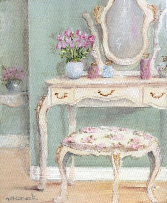 Ready to Frame Print - 3 drawer Dressing Table - Postage is included Worldwide