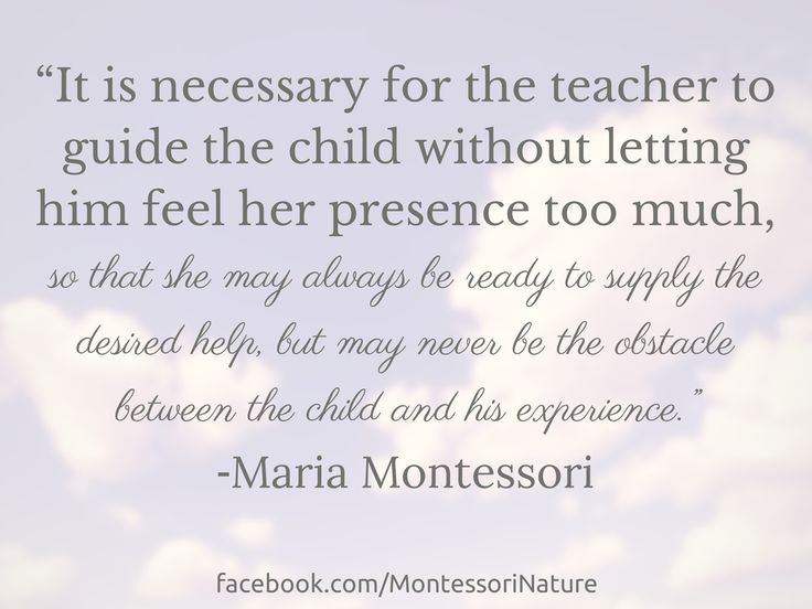 Montessori Nature: Inspirational | Montessori Quotes