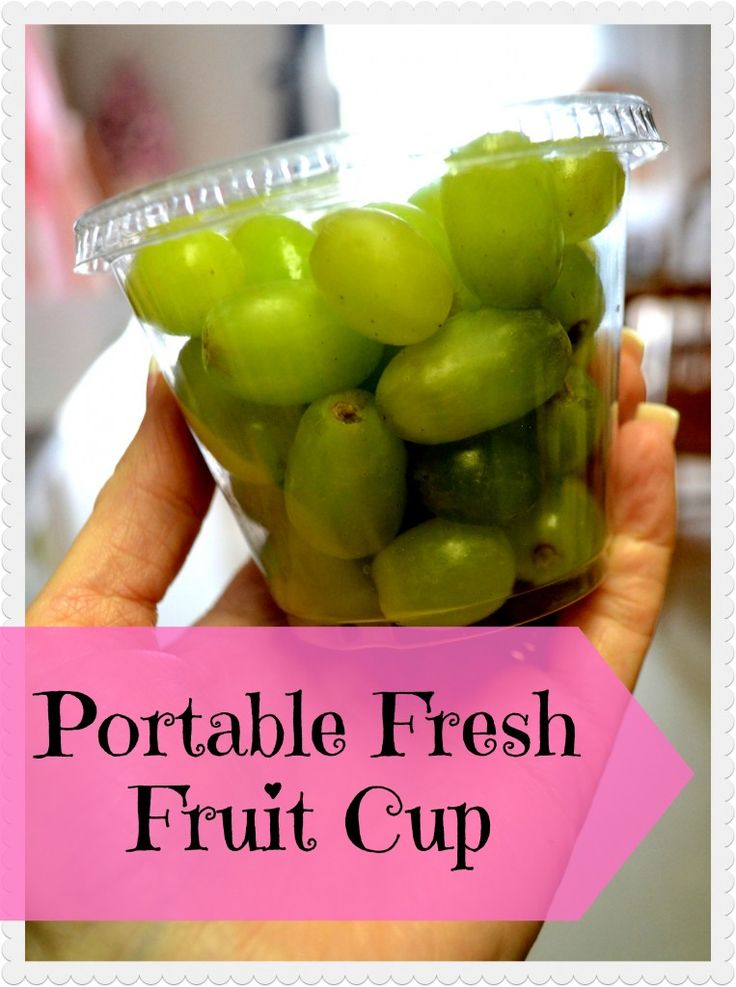 Super Easy Portable Snack!! Ready to go Fresh Fruit Cups