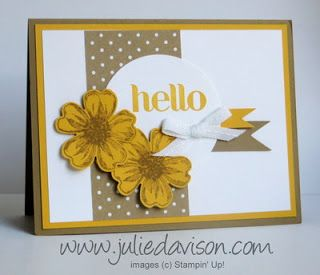 Stampin' Up! Flower Shop Control Freaks Convention Swap Card by Julie Davison, http://www.juliedavison.com