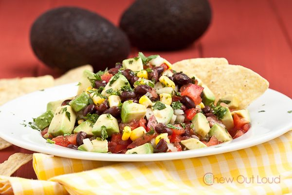 black bean corn avocado salad recipe