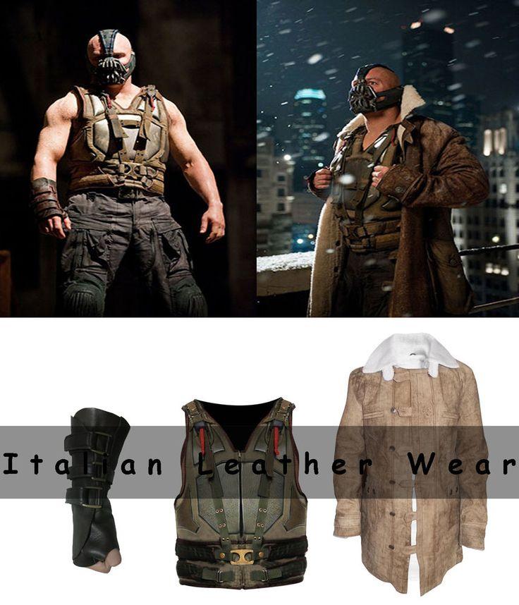 Batman Darknight Rises Bane Winter Halloween 2016 Leather Costume Cosplay