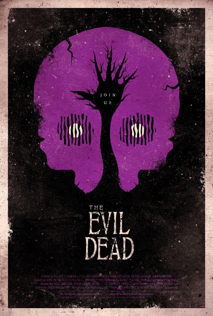Awesome Evil Dead PosterDead Movie, Evil Dead, Adamrabalai, Adam Rabalai, Posters Design, Film Poster, Dead Posters, Horror Movie, Minimal Movie Posters