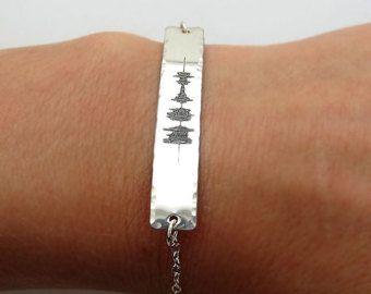 Sound Wave Bracelet Personalized Soundwave by FioreJewellery