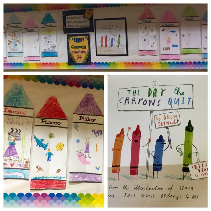 A fun and easy first day of school activity. The Day the Crayons Quit. Hilarious book!