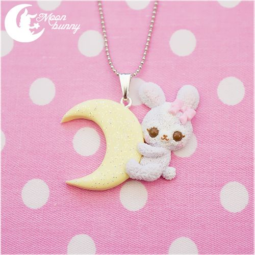 Dream fantasy bunny Necklace by CuteMoonbunny.deviantart.com on @deviantART