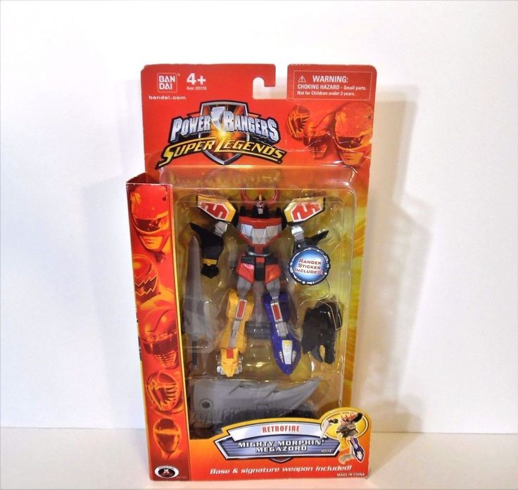 Power Rangers Super Legends Retrofire Mighty Morphin  Megazord  Figure Rare NIB #Bandai