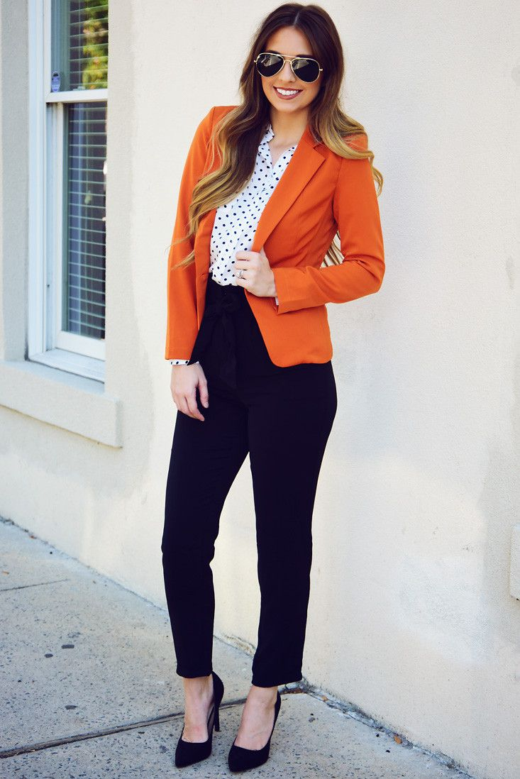 Share to save 10% on  your order instantly!  Jury Duty Blazer: Burnt Orange