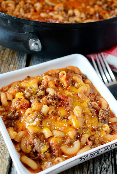 Old Fashioned Goulash! Use GF pasta and homemade beef broth for GF option. Yum!!