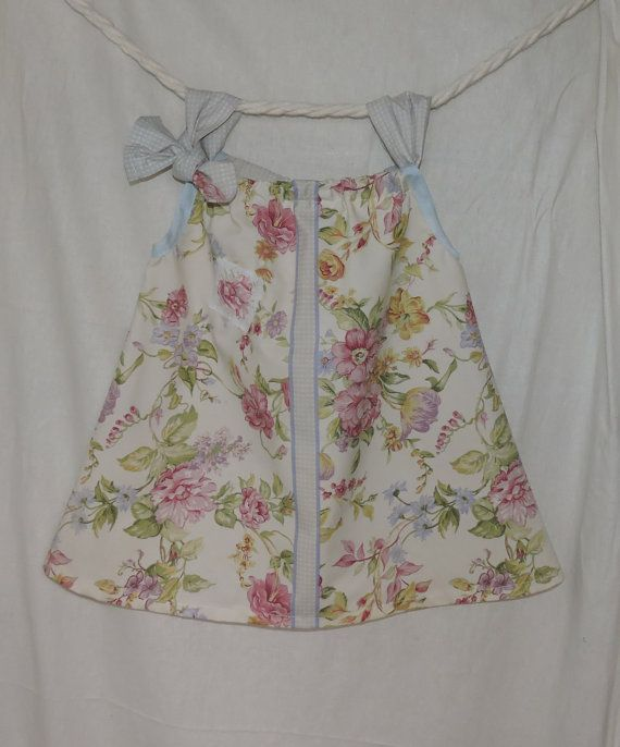 Toddlers  Dress Size 2  3 Upcycled Handmade Floral by dezignhub